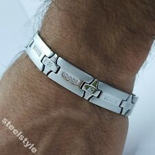 Grande 12MM De Acero Inoxidable Pulsera Cassic Estilo Para Hombre Joyería Bracelet LS1