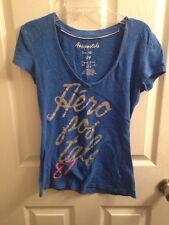 Aeropostale Aero S Tee Shirt Top Blue