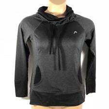 HEAD Tennis Running Pullover Sweatshirt Thumb Holes Charcoal Womens Small S
