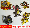 Tom and Jerry Cartoon Character Patch Badge Mouse Rat