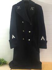 7f96df3ad10a4 Vintage Belle Jardiniere Blue Wool Overcoat Paris France Size Small-Medium  38-40
