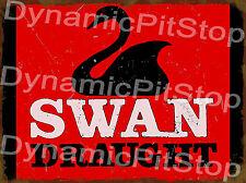 30x40cm Swan Draught Rustic Tin Sign