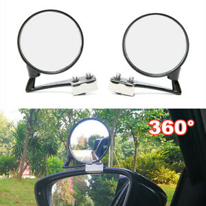 2PCS Car Blind Spot Side 360 Degree Rotation Mirror Wide Angle Lens View Mirrors