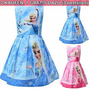 Kind Mädchen Prinzessin Tutu Kleid Eiskönigin Anna Elsa Cosplay Frozen Kleid Neu