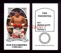 B. New Pacman Manny Pacquiao #1 Fan Favorite 2011 Sport Boxing Card USA Fast S/H