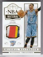 2014-15 Russell Westbrook #/25 Panini National Treasures Game Used Patch