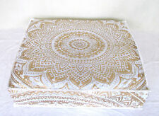"26X6"" New Golden Mandala Indian Floor Pillow Cushion Cover Pet Cat Bed Cover"