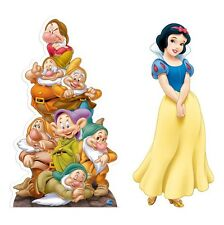 Disney Snow White and Seven Dwarf Pyramid B/W Cross Stitch Chart