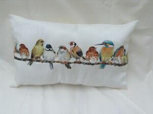 Laura Ashley Designer Cushion Cover GARDEN BIRDS BOLSTER Various Sizes