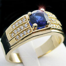 Sapphire Yellow Gold Filled Jewellery for Men