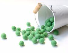 1cm GREEN Felt Balls x50.Wool.Party Decor.Pom poms.Felt Ball.Wholesale.