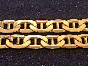 VINTAGE ESTATE 10k GOLD  BRACELET  MARINER MADE IN ITALY  SIGNED AIR SOLID