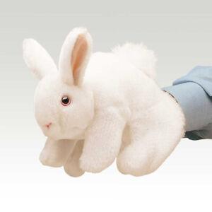 NEW PLUSH SOFT TOY Folkmanis 2048 White Bunny Rabbit Full Body Hand Puppet