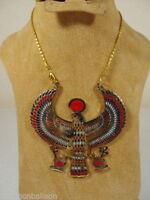 EGYPTIAN HORUS JEWELRY NECKLACE PENDANT ANKH KEY LIFE XXL SOLID BRASS PHARAOH