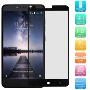 Premium [Real Tempered Glass] Full Screen Protector for ZTE ZMAX Pro / Carry