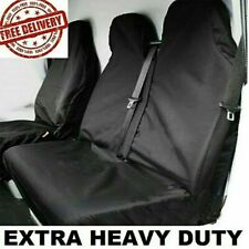 FORD TRANSIT MK6 MK7 MK8 HEAVY DUTY WATERPROOF BLACK VAN SEAT COVERS 2+1