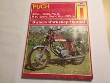 PUCH VS50 VZ50 VF50 M50 GRAND PRIX SPORTS MOPED HAYNES WORKSHOP MANUAL 1972-76