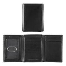 Johnston & Murphy Mens RFID Blocking Trifold Leather Wallet Black 46-10343