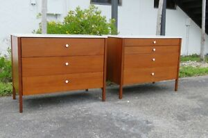 Mid Century Modern Pair of Dressers by Knoll 2300
