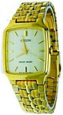 New Old Stock Citizen Gold Face S Steel Case&Band Water Resist Watch 1032-S91921