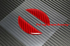 For Nissan 350Z 370Z Z34 Red Carbon Fiber Front Hood Emblem Logo Insert Decal