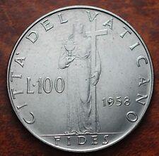 1958   Vatikan City  100  lire   Pius XII   UNC