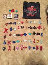 Bakugan Lot Of 46, 34 Metal Cards, 36 Regular Cards, And Bag