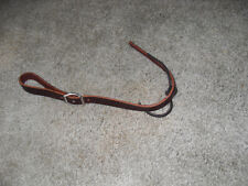 NEW LEATHER SADDLE CINCH CONNECTOR STRAP WITH CONWAY BUCKLE & TIE (USA)