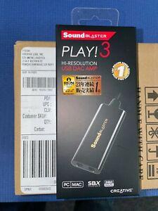 Lot of 10 CREATIVE LABS Sound Blaster PLAY 3! SB1730 SBX 24 bit/96kHz PC/Mac USB