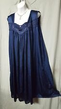 ABOVE ANKLE NAVY BLUE SLEEVELESS  BABYDOLL NIGHT GOWN  PLUS SIZE 4X GIFT