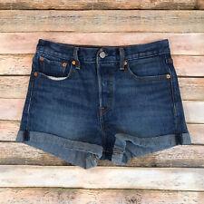 Levis Womens Size 28 White Oak Cone Denim Button Fly Denim Jean Shorts