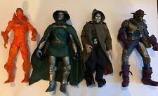 Marvel Toy biz 12 Inch Lot Of 4 - Doctor Doom, Green Goblin, Human Torch