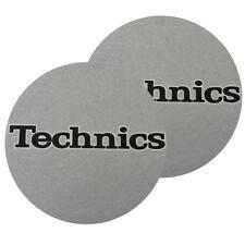 TECHNICS SLIPMATS coppia di panni sottodisco per giradischi (SILVER)