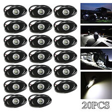 "20PCS White 9W 2"" CREE LED Rock Light Wheel RV For JEEP Truck SUV Offroad Marine"