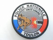 Ecusson police nationale Unité Canine  - TOULON 83