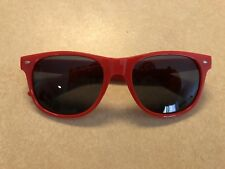 Classic 80s NERD Style RED FRAMES W/ UV400 & SMOKE GREY TINT — Non Prescription