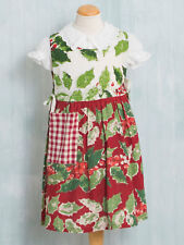 April Cornell KIDS Apron Merry Maker's Patchwork O/S NWT 100% Cotton Multi