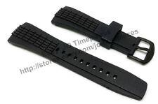 Comp. Seiko Velatura 7T04-0AD0 - SPC077P1 26mm Black Rubber watch Strap / band
