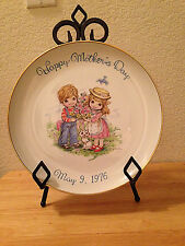 Commemorative Edition Genuine Porcelain Lg Happy Mother's Day Plate May 9,1976