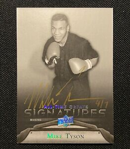 2012 UD All-Time Greats MIKE TYSON AUTO /7 GOLD Legends Autograoh SP SSP UDA