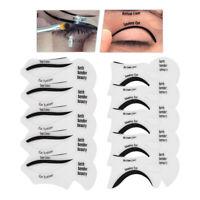 2x Eyeliner Stencils Cat Smokey Eyes Eyeshadow Stencil Models For Makeup Clear