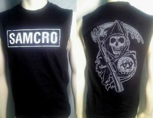 FALL '13 AUTHENTIC SONS OF ANARCHY SAMCRO BOXED SOA MUSCLE T SHIRT S M L XL 2XL