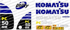 KOMATSU PC50MR DIGGER DECAL STICKER SET
