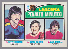 1976-77 OPC O-Pee-Chee #4 League Leaders Penalty Minutes Mint Sharp
