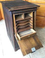 Antique Oak Post Master Cupboard, Desk, Architectural Salvage, Sorting