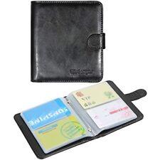 Business Card Book Organizer Wisdompro Premium Pu Leather Wallet Name Credit Id