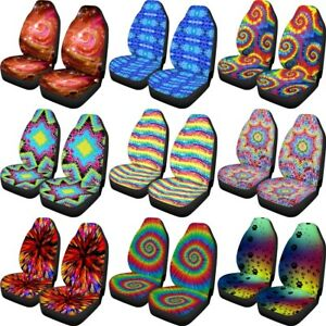 Universal Fit Car Seat Covers Set of 2 Womens Colorful Printed Front Seat Cover