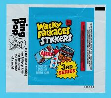 BUBBLE  GUM  WRAPPER  -  TOPPS  U.S.A.  -  WACKY  PACKAGES   ( A )  -  1980