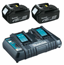 Makita Bl1850 18v 2 X LXT 5.0ah Lithium-ion Batteries Dc18rd Dual Port Charger