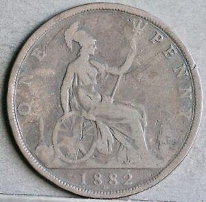 Victoria Bronze Penny, 1882 H, Heatons Mint. Reverse N. aFine